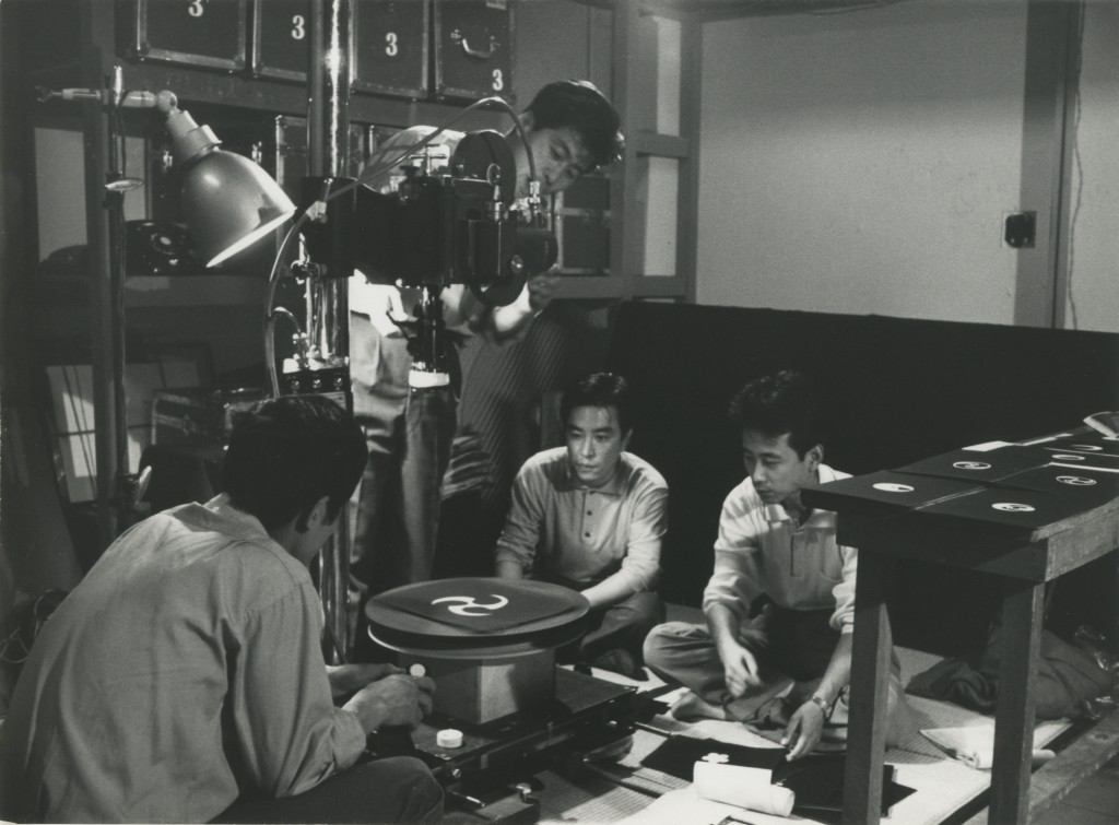 テレビ放送番組「日本の文様」(NHK, 1961年6月9日放送)番組制作風景