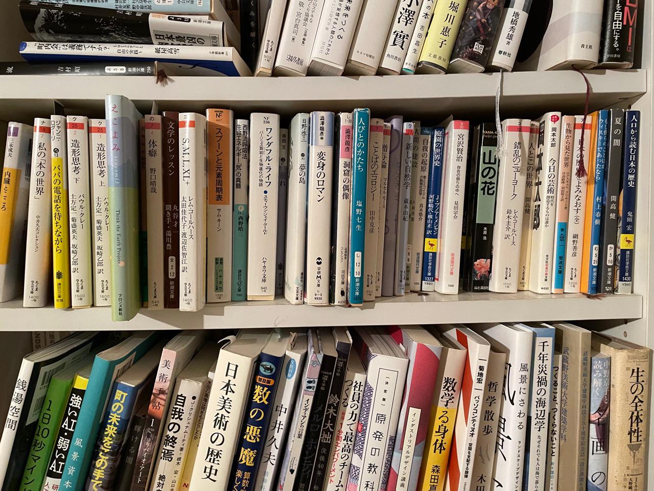 長谷川先生の書棚1